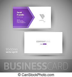 Business card template - vector illustration - Business card...