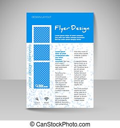 Site layout for design - flyer - Template for brochure or...