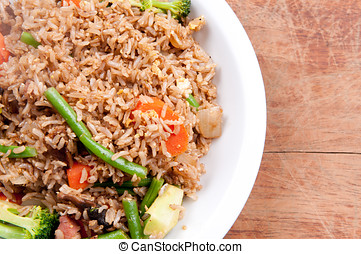pork stirfry with fresh vegetables - smoked pork stirfry...