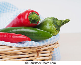 Red green chili pepper