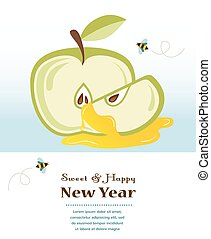 happy new year, rosh hashanah, jewish holiday - happy new...
