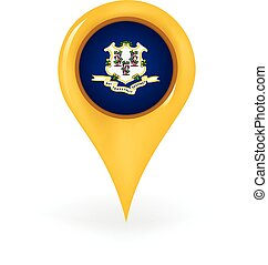 Location Connecticut - Map pin showing Connecticut.