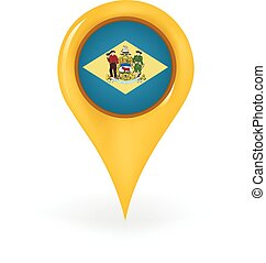 Location Delaware - Map pin showing Delaware