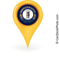 Location Kentucky - Map pin showing Kentucky