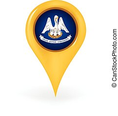 Location Louisiana - Map pin showing Louisiana
