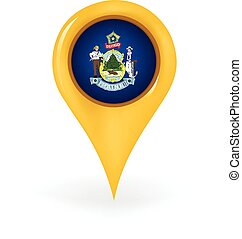 Location Maine - Map pin showing Maine