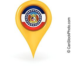 Location Missouri - Map pin showing Missouri