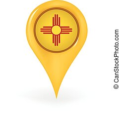 Location New Mexico - Map pin showing New Mexico.