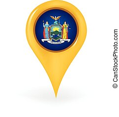 Location New York - Map pin showing New York.