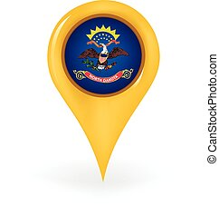 Location North Dakota - Map pin showing North Dakota