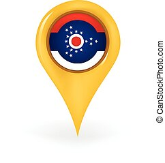 Location Ohio - Map pin showing Ohio