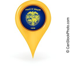 Location Oregon - Map pin showing Oregon