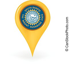Location South Dakota - Map pin showing South Dakota
