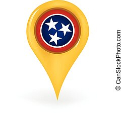 Location Tennessee - Map pin showing Tennessee
