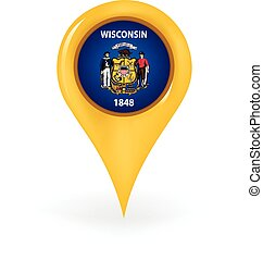 Location Wisconsin - Map pin showing Wisconsin