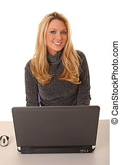 Lovely Business Woman - Lovely blond business woman working...