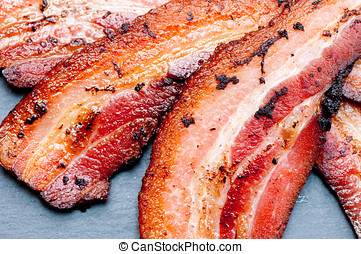 bacon, food of the gods - crispy organic heritage smoked...