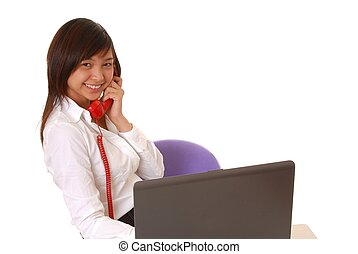 Young Asian Businesswoman - Lovely Asian business woman hard...