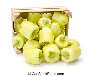 Yellow bell peppers (Capsicum annuum) - Yellow bell peppers...