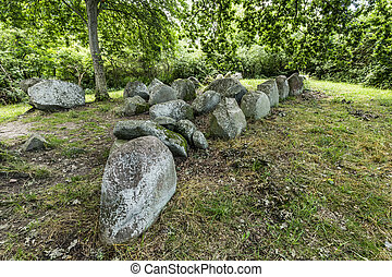 megalithic grave near village of Luetow in Usedom