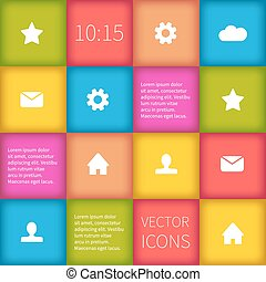 colorful squared infographic ui design - Colorful squared...