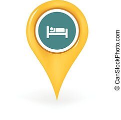 Accommodation Location - Map pin showing an accommodation...