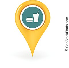 Food Court Location - Map pin showing a food court location.