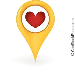 Favorite Location - Map pin showing a favorite location