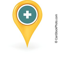 Medic Location - Map pin showing a medic location