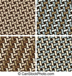 Basket Weave Pattern - Seamless Basket Weave Pattern set.