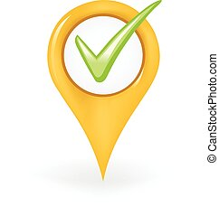 Correct Location - Map pin showing a check mark