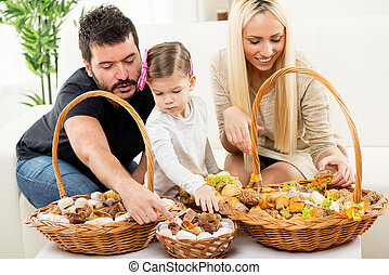 Happy Family Eating Pastry