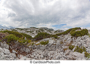 Dachstein Mountains landscape - View of the landscape of the...