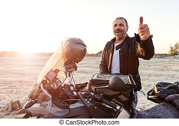 Dakar adventure - Middle aged motorcyclist won the toughest...
