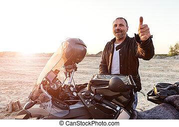 Dakar adventure - Middle aged motorcyclist won the toughest...