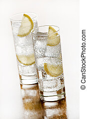 Water  - Fresh Mineral water with ice and lemon.