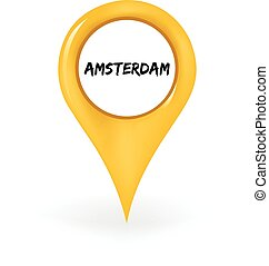 Location Amsterdam - Map pin showing Amsterdam