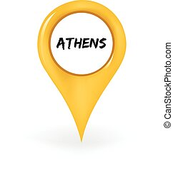 Location Athens - Map pin showing Athens