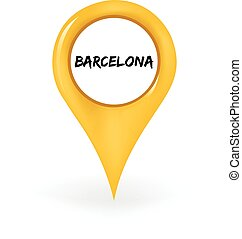 Location Barcelona - Map pin showing Barcelona.