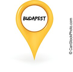 Location Budapest - Map pin showing Budapest.
