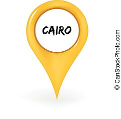 Location Cairo - Map pin showing Cairo.