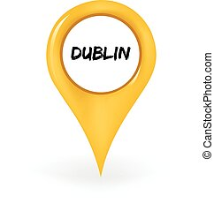 Location Dublin - Map pin sowing Dublin.