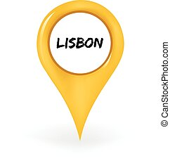 Location Lisbon - Map pin showing Lisbon
