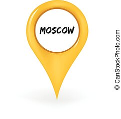 Location Moscow - Map pin showing Moscow