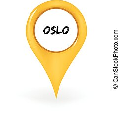 Location Oslo - Map pin showing Oslo
