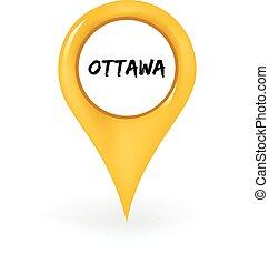 Location Ottawa - Map pin showing Ottawa.