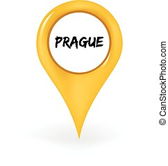 Location Prague - Map pin showing Prague