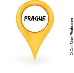 Location Prague - Map pin showing Prague