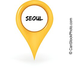 Location Seoul - Map pin showing Seoul