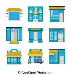 Showcases flat color vector icons